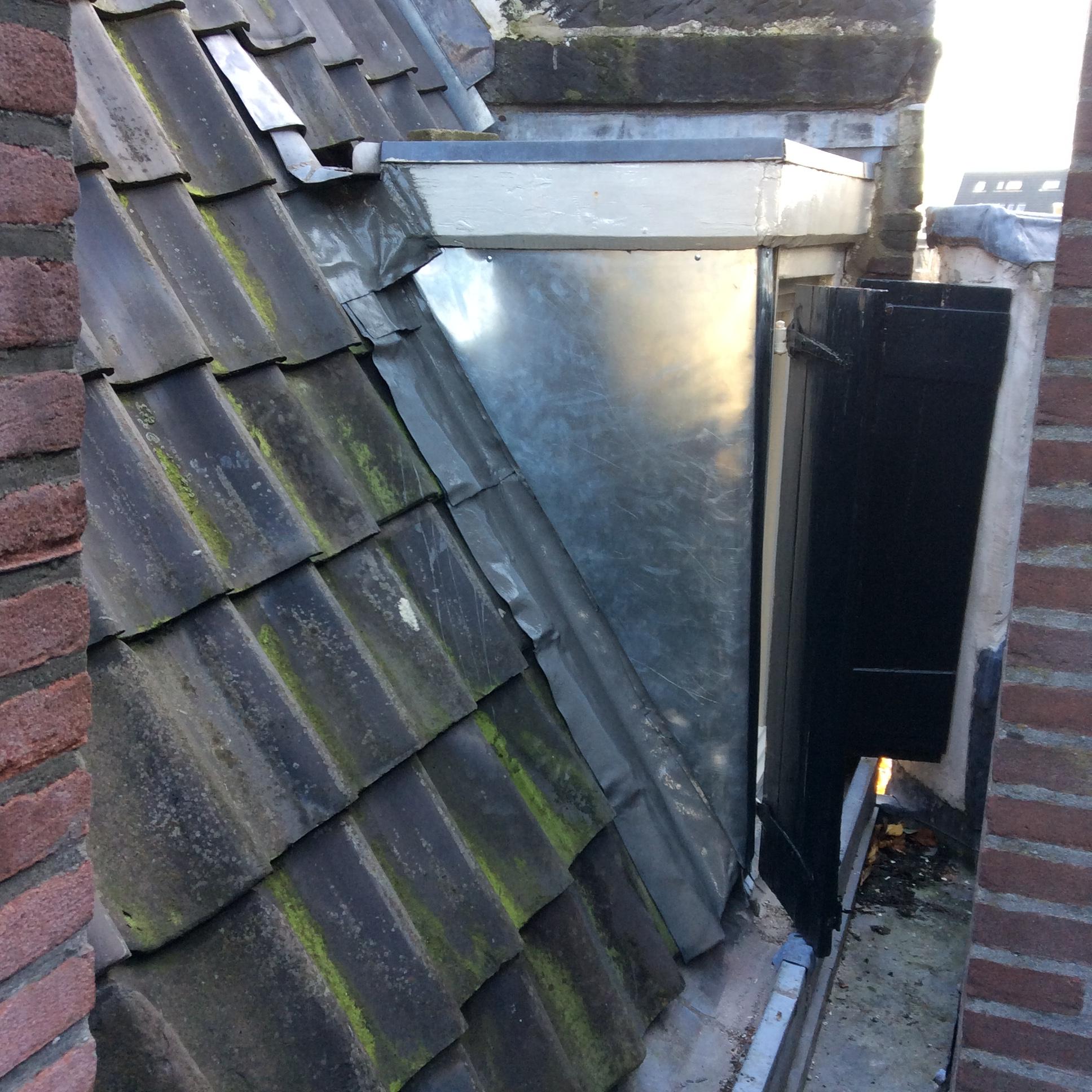 Kromme Waal zinken bekleding dakkapel